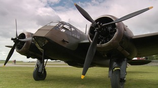 The only flying Bristol Blenheim of its kind at Duxford in Cambridgeshire.