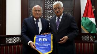 Sepp Blatter and Mahmoud Abbas