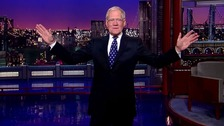 Letterman's last ever entrance