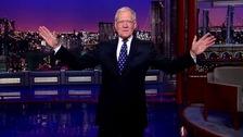 Letterman's last ever entrance