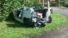 Six injured in crash this morning