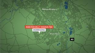 Location of racist assault in Milton Keynes