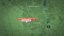 Location of racist assault in Milton Keynes