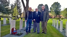 A veteran who won a Christmas Wish competition chose to visit his brother's war grave in Norway