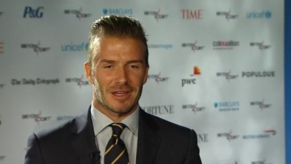 London Olympics 2012: David Beckham talks to ITV News' Sports Editor Steve Scott