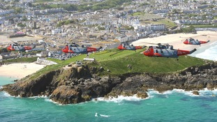 Cornwall has thanked its Sea King Search and Rescue helicopters