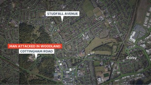 Location of knife attack in Corby