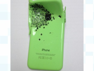 The victim's iPhone took the majority of the blast from the shotgun