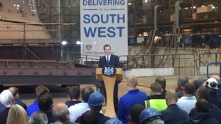 George Osborne told workers the North Devon Link Road will be upgraded