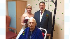 Dream comes true for dying father as he gives his daughter away at her wedding.