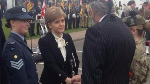 First Minister Nicola Sturgeon has arrived in Gretna