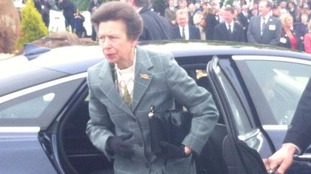 Princess Anne arriving at Gretna
