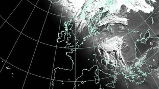 The latest satellite weather picture from the Met Office.
