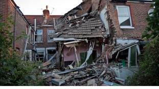House destroyed in Southsea