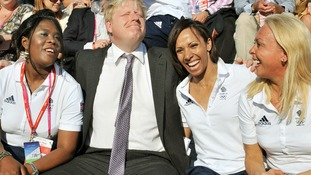 Boris Johnson Tessa Sanderson, Dame Kelly Holmes, and Jayne Torvill