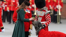 Kate Middleton greets Irish Guards on St Patrick's Day