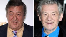 Sir Ian McKellen and Stephen Fry among celebrities to celebrate Yes vote in Ireland