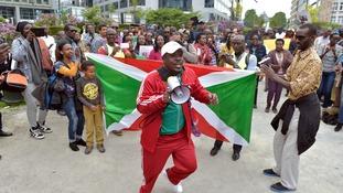 A protest in Burundi