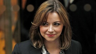 Singer Charlotte Church leaves the High Court earlier this year.