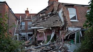Pensioner survives explosion