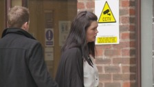 Hayley McTaggart arriving at Carlisle Crown Court