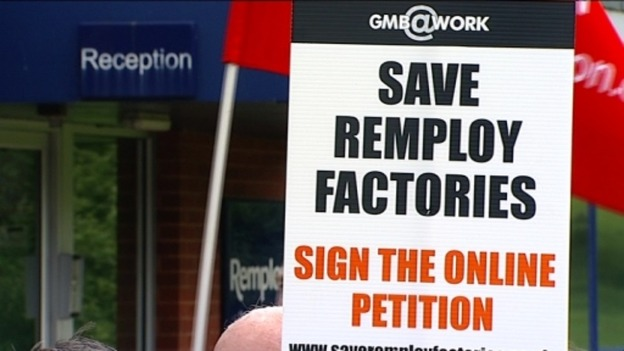 Remploy strike placards