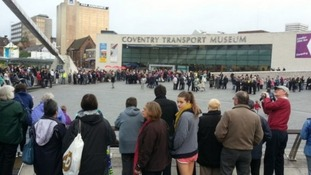 Crowds at the Coventry Transport Museum