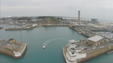 The depth of the harbour waters limits the number of cruise ships coming to Jersey.