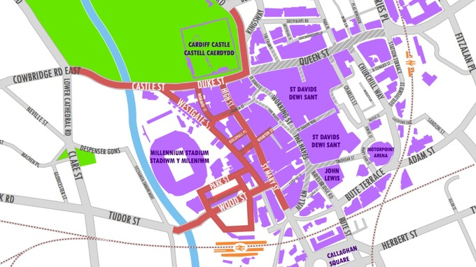 Full closure for Cardiff city centre during One Direction gigs