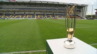 The Greene King Championship trophy which could be Worcester's after 80 minutes