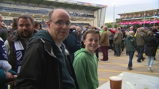 Fans at Sixways as Worcester Warriors take on Bristol in the Championship play-off final