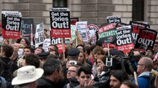 Anti-austerity protesters