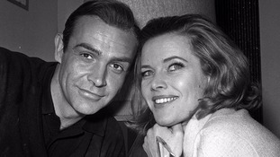 Honor Blackman (Pussy Galore) meets Sean Connery (James Bond)