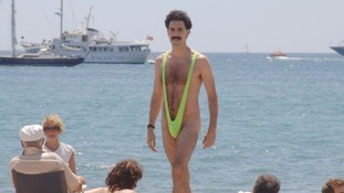 The skinny swimsuits, as worn in the film Borat, are now banned in Newquay.