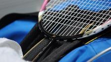 Badminton racquet.