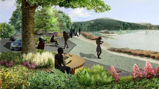 Artist impression of how the upgraded Waterhead promenade could look
