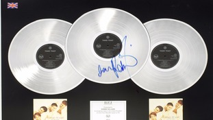 Undated handout photo issued by Bonhams of a Take That multi-platinum award for the album Everything Changes,