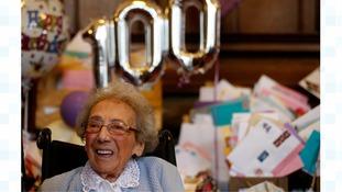Winnie Bladgen turns 100 on Sunday