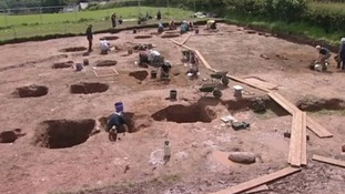 Christian burial ground unearthed
