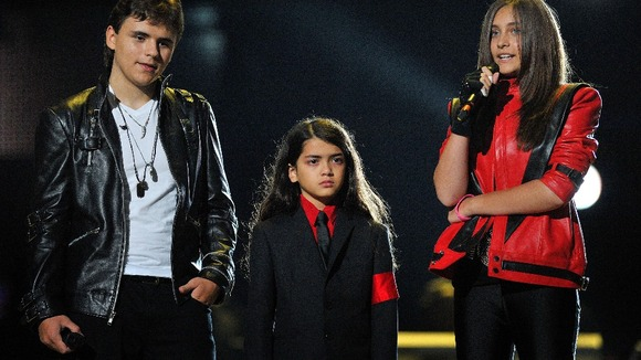 Prince, Blanket and Paris Jackson at the Michael Forever Tribute Concert last year