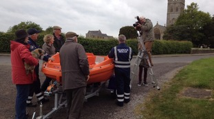 Rescue boats were a lifeline for Muchelney residents during the floods.