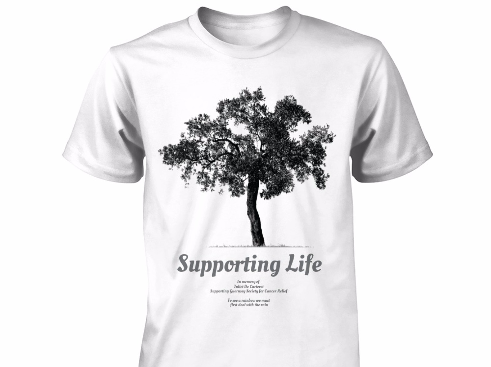 Islander designs t shirts to support cancer charity for Charity printed t shirt