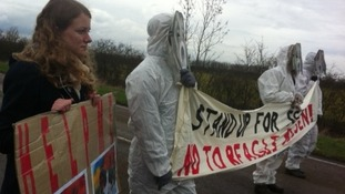Animal rights march in Cambridgeshire