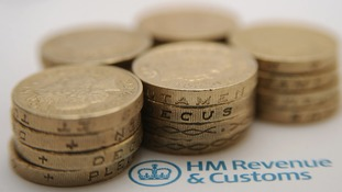 pound coins next to the HM Revenue & Customs (HMRC) logo.