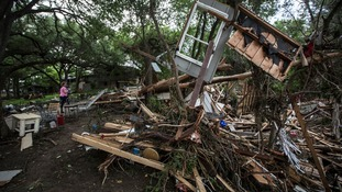 Debris from a destroyed home in Texas