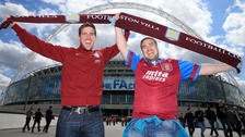 Aston Villa fans Anthony and James McKay.