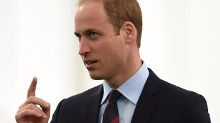Prince William after the speech.
