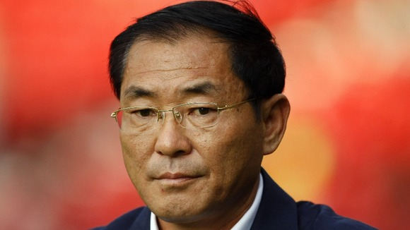 Coach of the North Korean women's football team Sin Ui-Gun