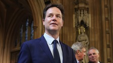 Nick Clegg among politicians banned from entering Russia.