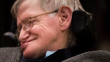 Professor Stephen Hawking spoke at Cambridge University's Gonville and Caius College.